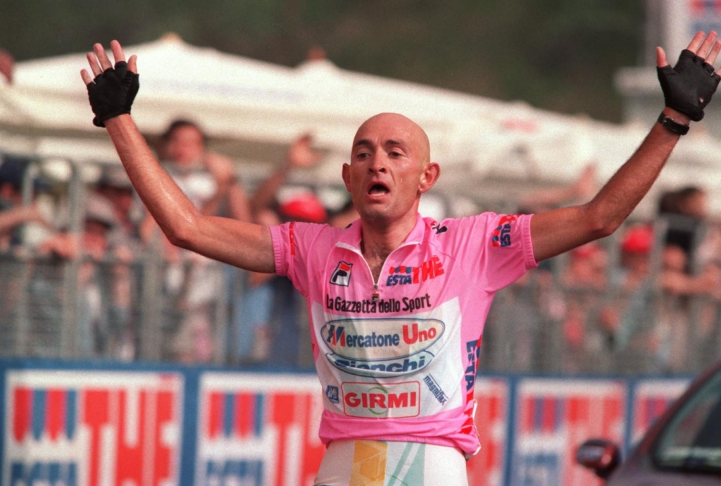 Marco Pantani en el Giro de Italia