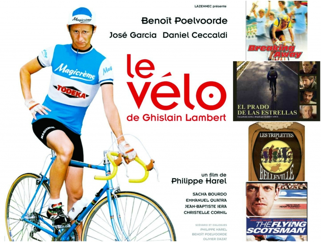 Collage 5 películas ciclismo