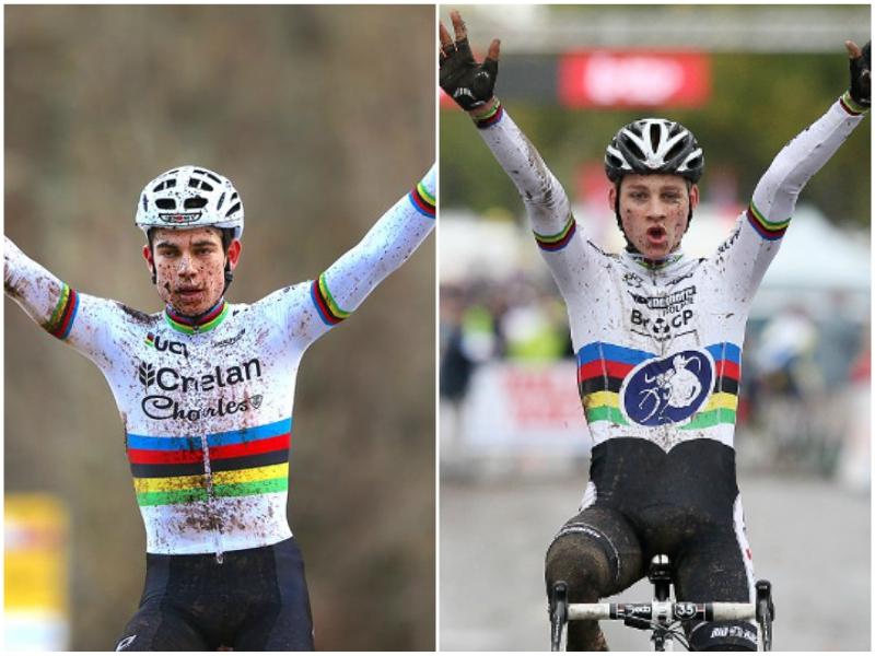 Collage VdP - Van Aert