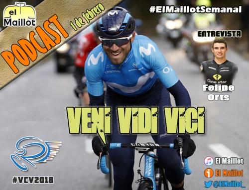 El Maillot Semanal #33 (01/02/2018) – Valverde sonríe de nuevo en Valencia. Hablamos con Felipe Orts antes del Mundial de CX